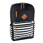 ELESAC 16.5 inch Backpack (Black/Black White Stripe)