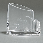 CLEARYLIC LUCITE PEN & PENCIL DESK CADDY