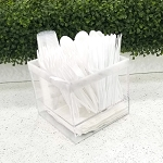 Lucite Silverware Caddy