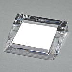 CLEARYLIC LUCITE PAD OR PAPER HOLDER