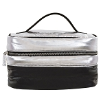 Silver/Black Puffer Cosmetic Case
