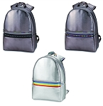 Leather Backpack with Decorative Straps - ASSORTED COLORS