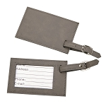 Gray Leatherette Luggage Tag 2.75