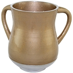 Aluminum Unbreakable Washing Cup 13.5 Cm- Gold Glitter