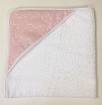 Infant Hooded Towel Manhattan Pink INCLUDES EMBROIDERY