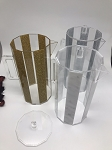 Lucite Hexagon Pitcher CHOOSE A COLOR