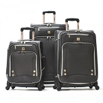 Olympia Skyhawk Series 3 Pc Luggage Set (Black)