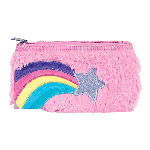 Rainbow Shooting Star Furry Pencil Case