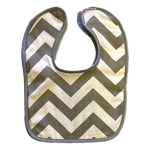 Chevron Grey Bib