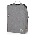 ELESAC 16.5 inch dual pocket full size backpack with sturdy metal handle - water resistant (Gray)