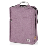 ELESAC 16.5 inch dual pocket full size backpack with sturdy metal handle - water resistant (Purple)