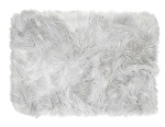 Matisse Faux Fur Accent Rug (Gray) INCLUDES EMBROIDERY