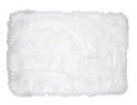 Matisse Faux Fur Accent Rug (White) INCLUDES EMBROIDERY