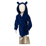 Navy Velour Robe with Hood CHOOSE A SIZE