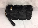 Fur Clutch Fashion Wristlet CHOOSE A COLOR