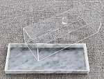LUXE Marble Lucite Rectangle Cake Tray