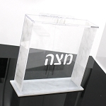 Lucite Square Matzah Box CHOOSE A COLOR