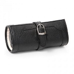 Morelle & Co Olivia Belted Jewelry Roll Travel Case (Black)