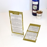 Lucite Kiddush Yom Tov Card CHOOSE A COLOR