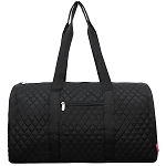 Quilted Large Duffle Bag (Black)