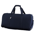 Quilted Large Duffle Bag (Navy)