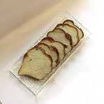 Silver Shimmer Lucite Bread Tray