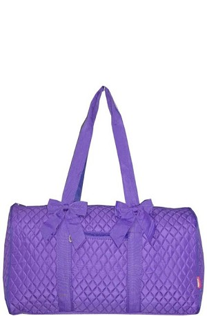 Quilted Large Duffle Bag (Purple)