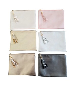 Metallic Zip Pouch CHOOSE A COLOR